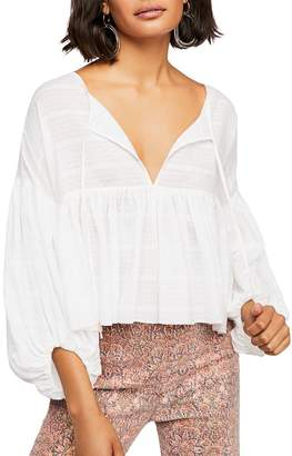 Free People Beaumont Mews Balloon-Sleeve Top