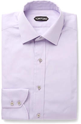 Tom Ford Lilac Slim-Fit Cotton-Poplin Shirt