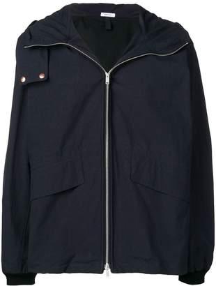 Jil Sander zip hooded jacket