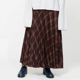Heliopole (エリオポール) - HELIOPOLE YUNSA チェックロングプリーツスカート