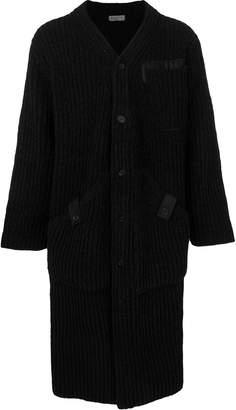 Yohji Yamamoto long ribbed knit cardigan