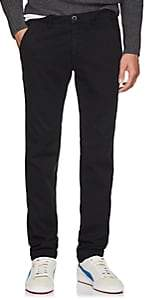 Barneys New York Men's Torino Cotton Slim Trousers - Navy