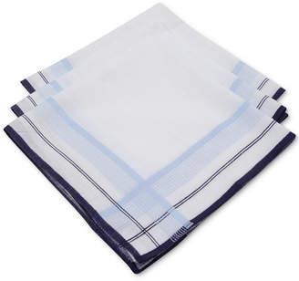 Club Room Men 3-Pc. Fashion-Border Handkerchief Set