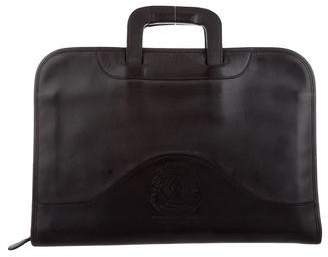 Ghurka Convertible Leather Briefcase