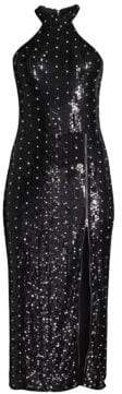 Alice + Olivia Jeana Sequin Midi Dress