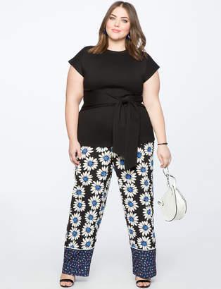 Contrast Print Pajama Pant