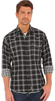 Wrangler Men's Retro Two Pocket Snap Front Long Sleeve Shirt