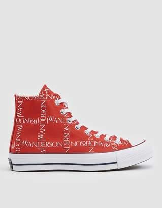 Converse J.W.A. Logo Grid Chuck Taylor 70 High Sneaker in Flame Scarlet