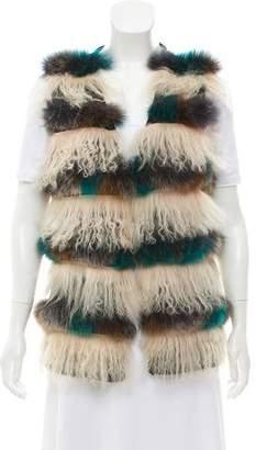 Alberto Makali Mongolian Fur Vest