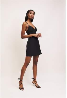 Dynamite V-Neck Mini Dress Jet Black