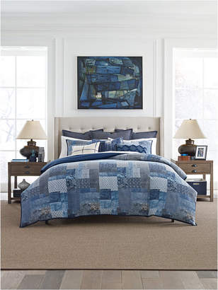 Tommy Hilfiger Oasis Indigo Patchwork Cotton 3-Pc. Twin Comforter Set Bedding