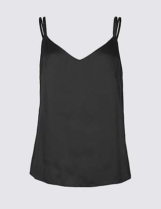 M&S Collection Satin V-Neck Vest Top