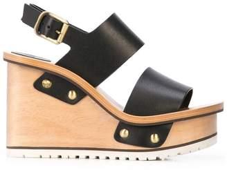 Chloé high wedge heel sandals