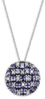 Effy 14K White Gold, Tanzanite & Diamond Pendant Necklace