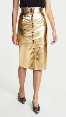 MSGM Metallic Midi Skirt