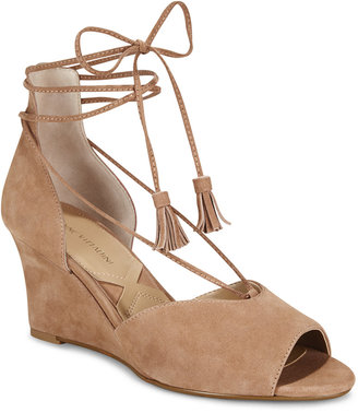 Adrienne Vittadini Marcey Lace-Up Wedges $99 thestylecure.com