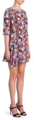 Prada Silk Floral Mini Dress