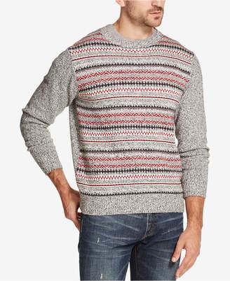 Weatherproof Vintage Men Fairisle Stripe Sweater