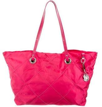Moncler Quilted Leather-Trimmed Tote