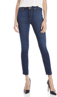 Paige Hoxton Dark Wash High-Waisted Ankle Skinny Jeans