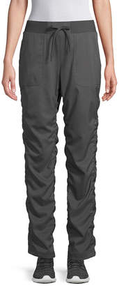 ST. JOHN'S BAY SJB ACTIVE Active Womens Mid Rise Straight Shirred Pull-On Pants
