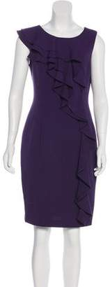 Calvin Klein Ruffle Accent Scoop Neck Dress