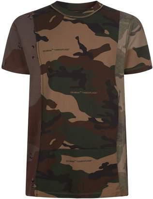 Off-White Off White Reconstructed Camouflage T-Shirt