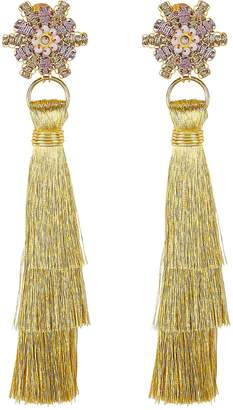 Mercedes Salazar Waterfall Fringe Earrings