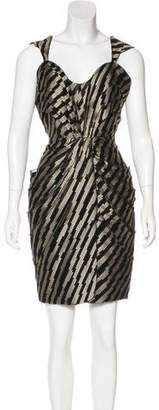 Brian Reyes Sleeveless Jacquard Dress