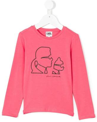 Karl Lagerfeld Paris printed long-sleeved sweatshirt