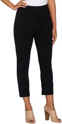 Shape Fx Ponte Knit Pull-On Slim Leg Crop Pants
