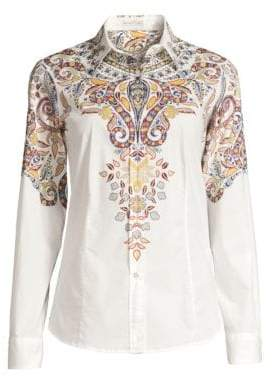 Etro Fern Paisley Button-Down Shirt