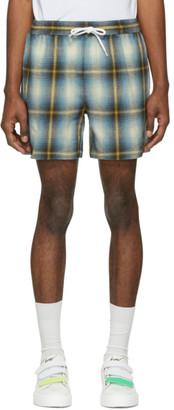 Adaptation Blue and Yellow Plaid Shorts