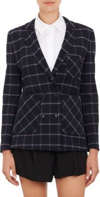 Band Of Outsiders Plaid Double-Breasted Blazer