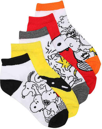 High Point Design Peanuts Toddler No Show Socks - 5 Pack - Boy's