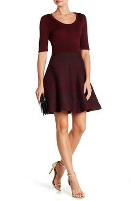 Nina Leonard Scoop Neck Knit Dress