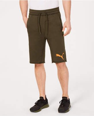 Puma Men's Raw-Hem French Terry Bermuda Shorts