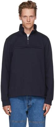 A.P.C. Navy Belgrade Zip-Up Sweatshirt