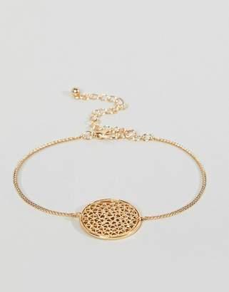 Asos Filigree Disc Charm Bracelet