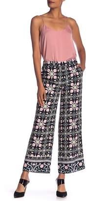 Rachel Roy Black Tile Wide Leg Trouser