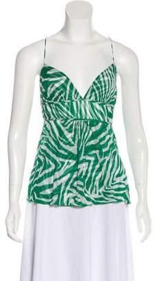 Diane von Furstenberg Silk Printed Crop Top