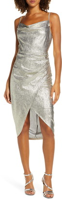 Ever New Metallic Cowl Neck Slipdress