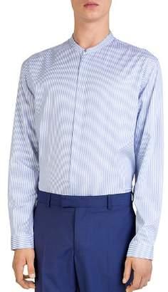 The Kooples Blurred Brezza Mock-Neck Button-Down Shirt