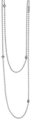 """Lagos Sterling Silver Chain Necklace with Caviar Icon Stations, 36"""""""