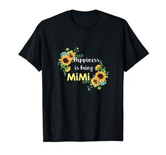 Happiness is be called Mimi Floral Woman Art Tees Shirt T-Shirt