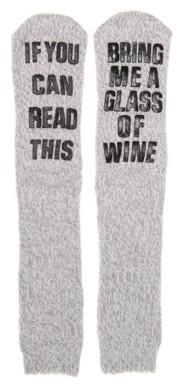 Mix No. 6 Bring Wine Women's Slipper Socks