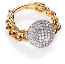 Phillips House Affair Diamond& 14K Yellow Gold Infinity Mini-Chain Link Ring