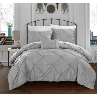 Chic Home 3-Piece Whitley Pinch Pleated Duvet Cover Set
