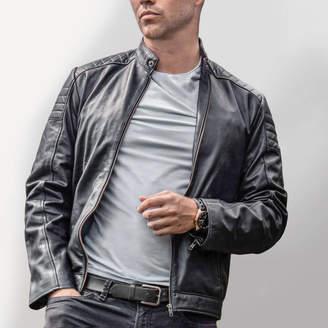 Suede Leather Biker Jacket ShopStyle UK