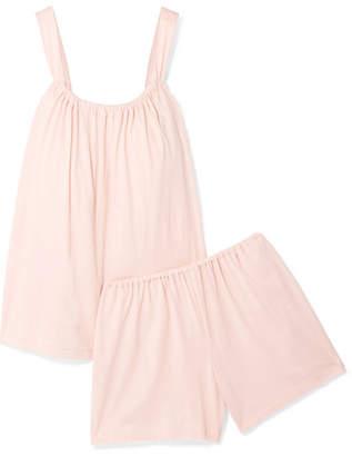 Skin - Organic Pima Cotton-jersey Pajama Set - Pastel pink